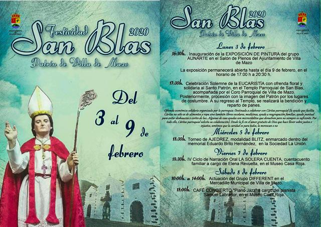 Festividad de San Blas, Patrón de Villa deMazo